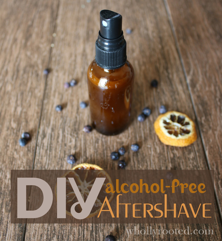 DIY Alcohol-Free Aftershave whollyrooted.com